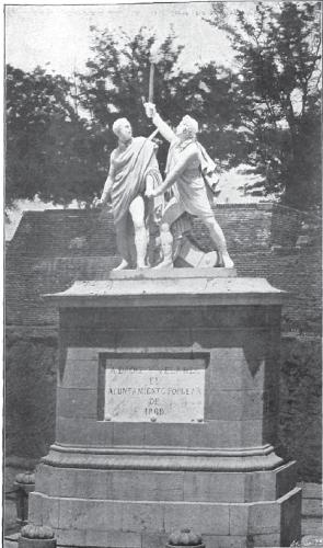 Grupo escultórico de Daoiz y Velarde (ubicado en 1908 en el Parque del Oeste)