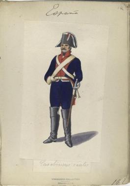 Uniforme de Oficial de Artillería 1807