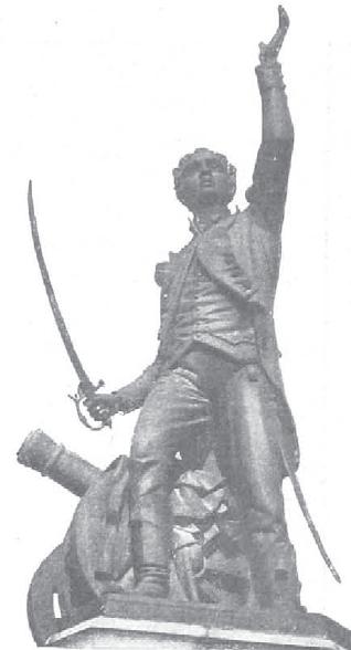 Capitán Velarde, escultura ubicada en Santander (1908)