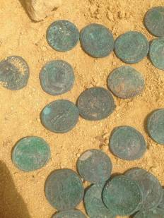 Monedas de cobre. Imagen de Jesús Portillo ramos en Facebook.