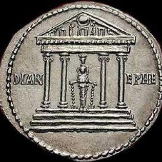 Resultado de imagen de moneda diana artemisa en merida