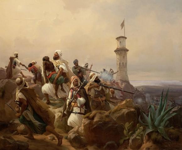 """N.Simonsen """"ataque berberisco"""" (c1840)"""