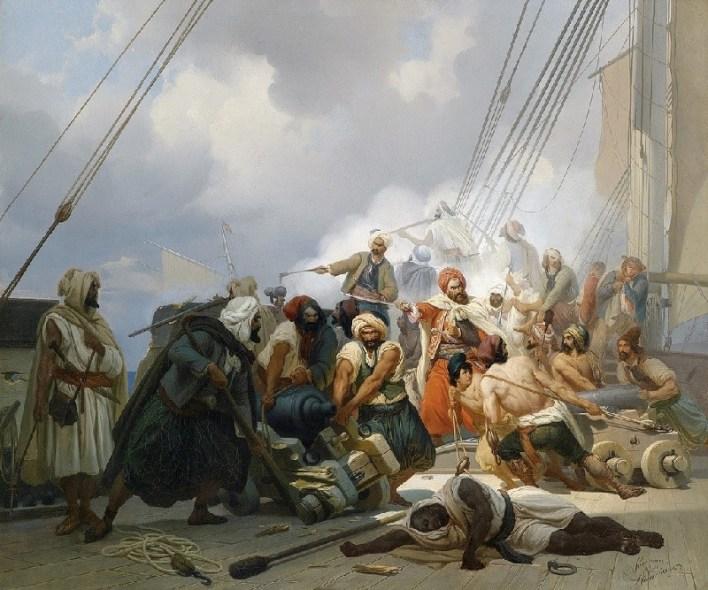 "N Simonsen ""Piratas Berberiscos"" (1844)"
