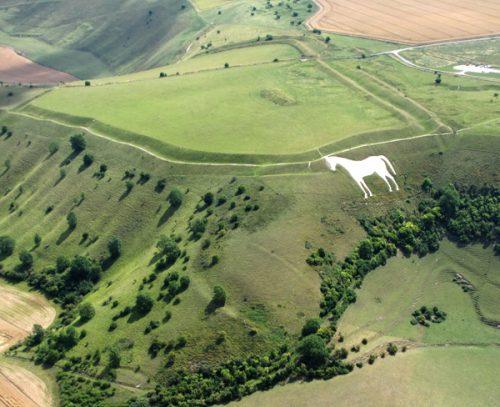 El caballo de Westbury, en Wiltshire