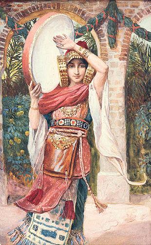"""La hija de Jefté"" de James Tissot, inspirada en la Dama de Elche"