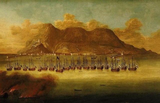 La flota anglo-neerlandesa en la toma de Gibraltar