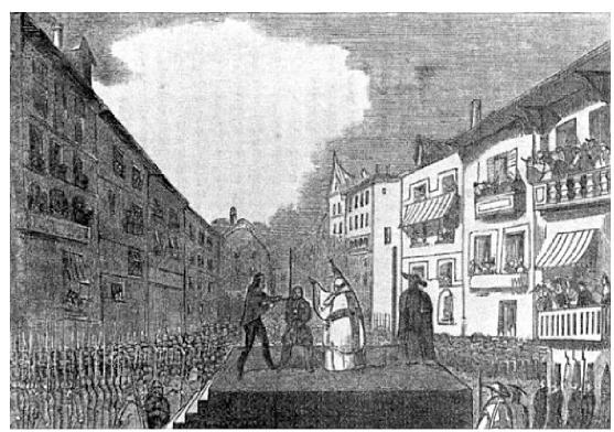 Ejecución de Elósegui en Vitoria