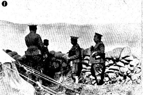El General Berenguer dirigiendo las operaciones sobre el Fondak (fuente: ABC)