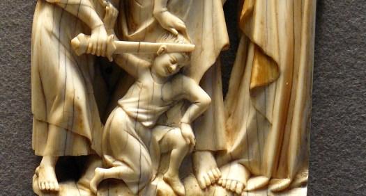 DETALLE marfil representando el Prendimiento (s XIV) Museo del Louvre