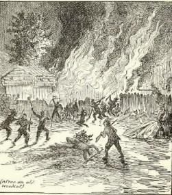 Burning fort