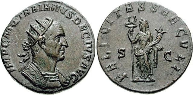 Moneda del emperador Decio
