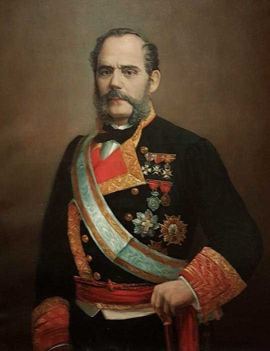 Juan Bautista Topete y Carballo retratado en el Museo Naval en Madrid