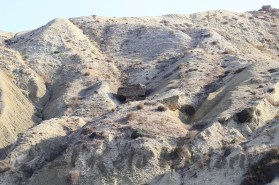 Blocao de playa de Sidi Dris visto desde la costa [Foto:RetoHistorico (c)]
