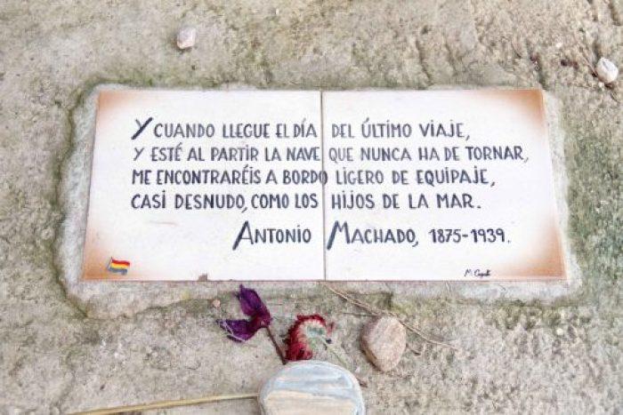 Antonio Machado Tumba epitafio