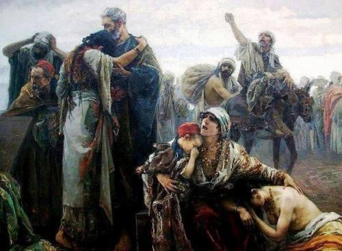 La expulsión de los moriscos (1894), de Gabriel Puig Roda.