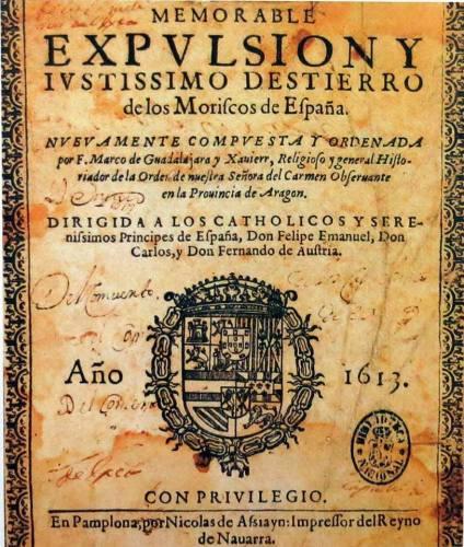 Decreto de expulsión firmado por Felipe III
