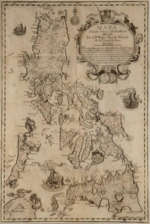 Mapa de las Filipinas en el siglo XVIII