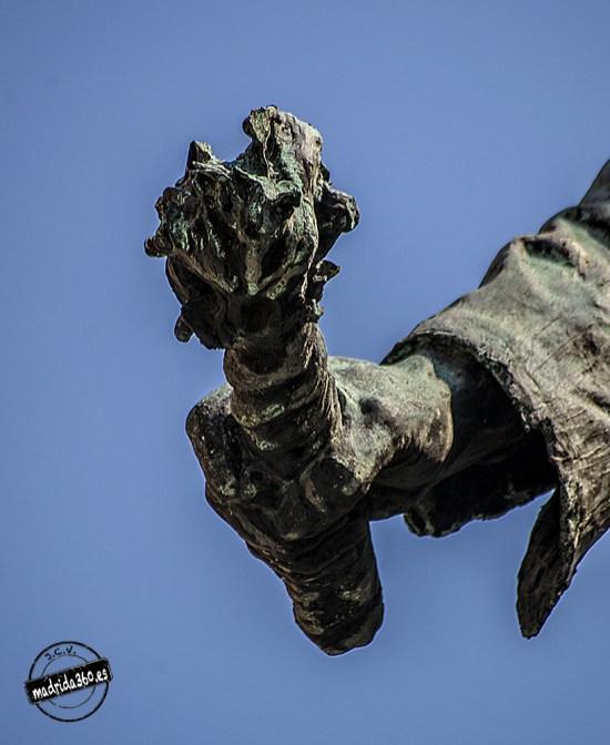 Detalle de la mecha (estatua de Eloy en Madrid) Foto: http://www.madrida360.es