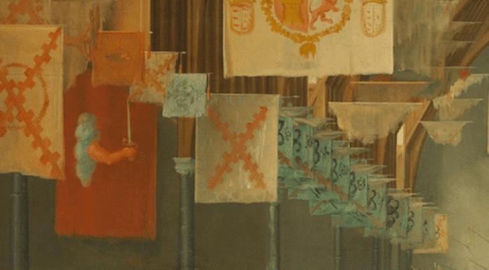 Sala Binnenhof 1651 banderas tercios