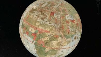 primer mapamundi grande mundo monte