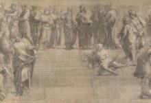 """Photo of El dibujo preparatorio de """"La escuela de Atenas"""", de Rafael"""