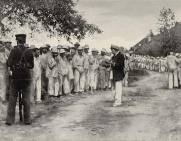 Marineros españoles en el hospital naval de Portmosuth. Prisioneros de Guerra todavía