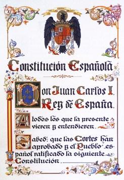 Portada de la Constitución de 1978