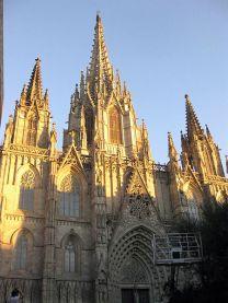 Fachada de la catedral de Barcelona el 2012