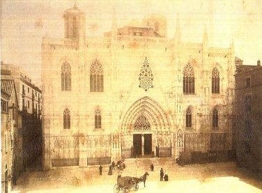 Fachada de la catedral de Barcelona el 1890