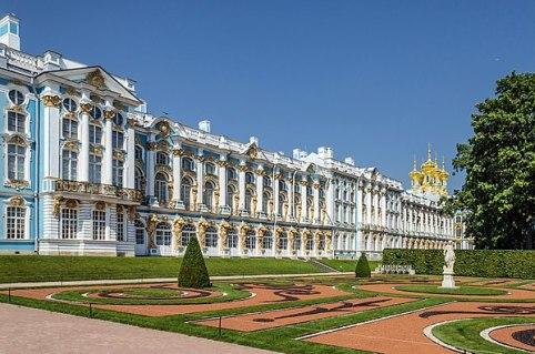 El Palacio de Catalina del complejo de Tsárskoye Seló. (wikimedia)