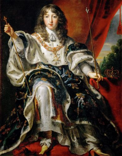 siglo XVII Luis XIV retrato