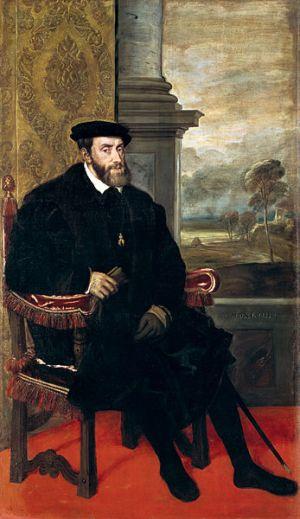 Carlos I Felipe II Franciso I Enrique II Valois Catalina Francia España Italia torneo Borbon