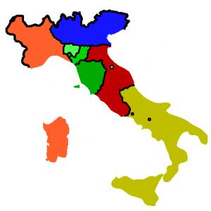 Estados italianos en 1859