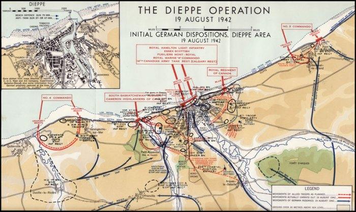 dieppe desembarco playa operación
