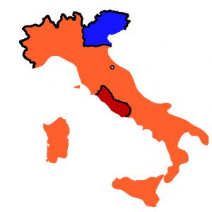 Italia en 1861 tras la campaña de Garibaldi
