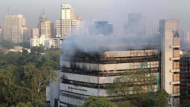 incendio museo india