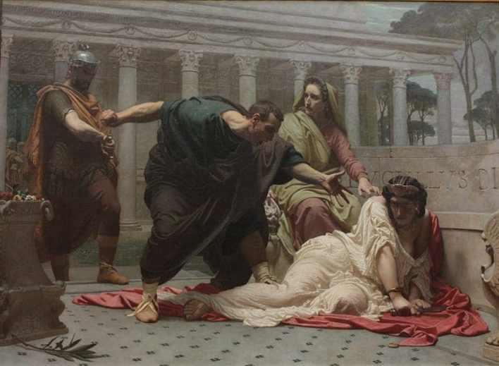 La muerte de Messaline , François Victor Eloi Biennourry (1850)