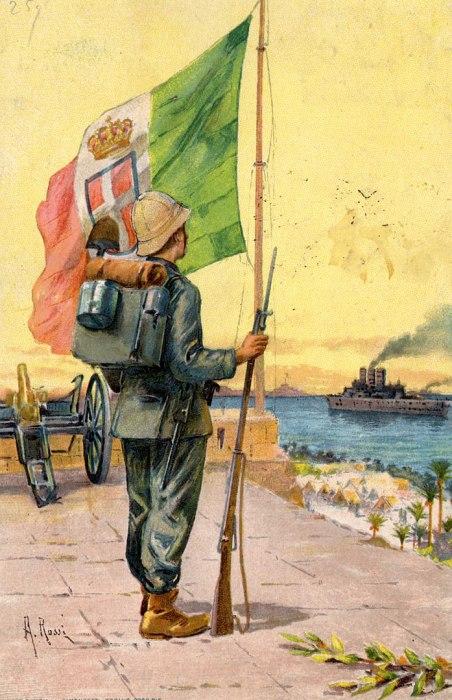 Postal italiana de 1911 africa