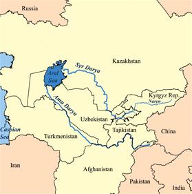 mar de aral rios