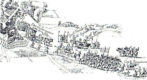 Retirada de la guarnición de Breda tras la capitulación