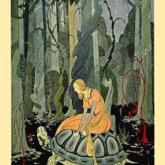 Dibujo de Pluma y tinta. Tanglewood Tales. Virginia Frances Sterrett