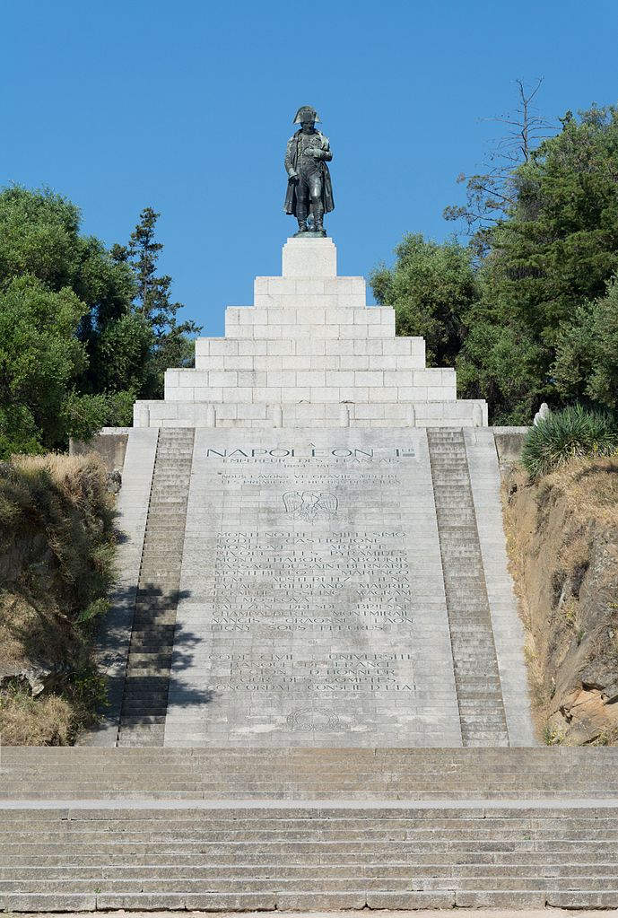 monumento de Napoleón Bonaparte en la Plaza Austerlitz (Ajaccio, Córcega)