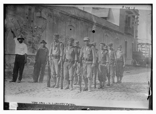 marineros estadounidenses en Veracruz, México.