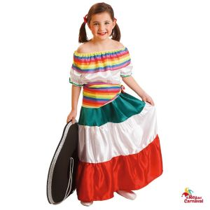 disfraz infantil mejicana