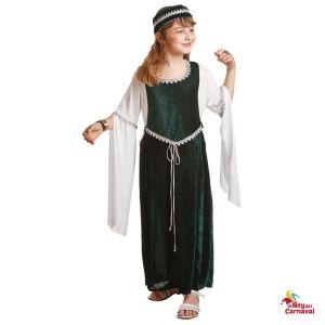 disfraz medieval verde