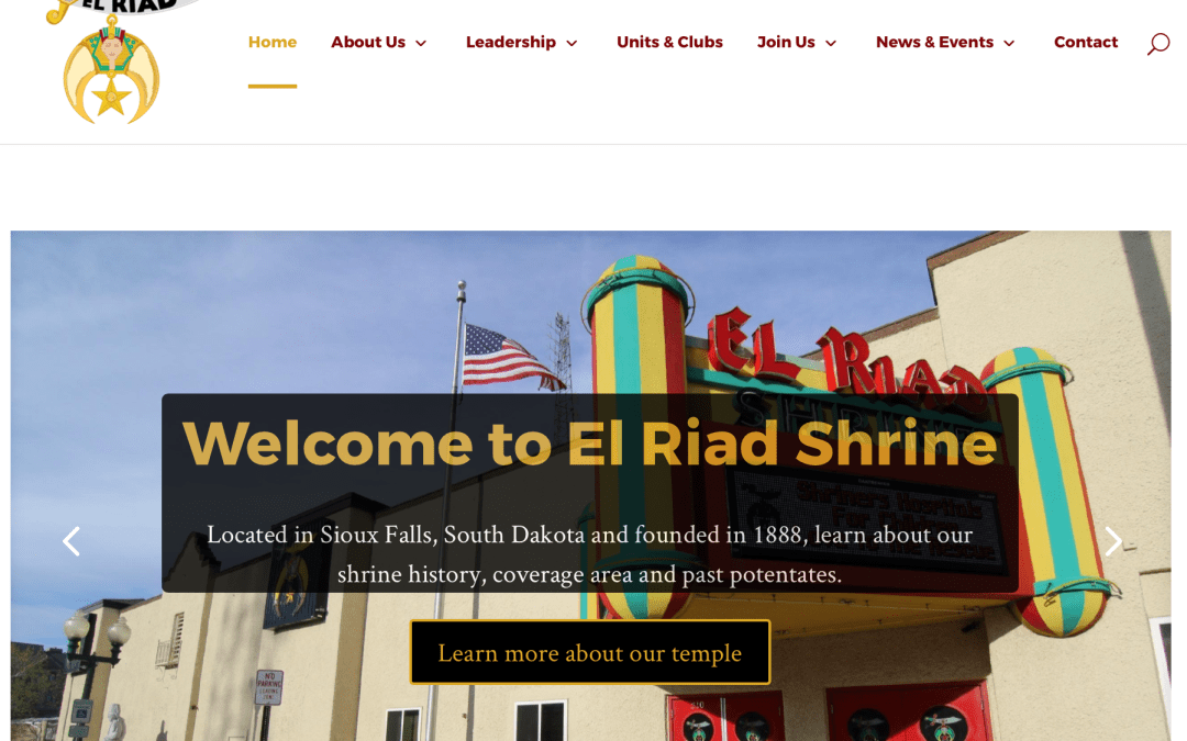 New El Riad Shrine Website Unveiled