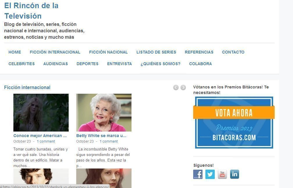 elrincon.tv en Octubre del 2013