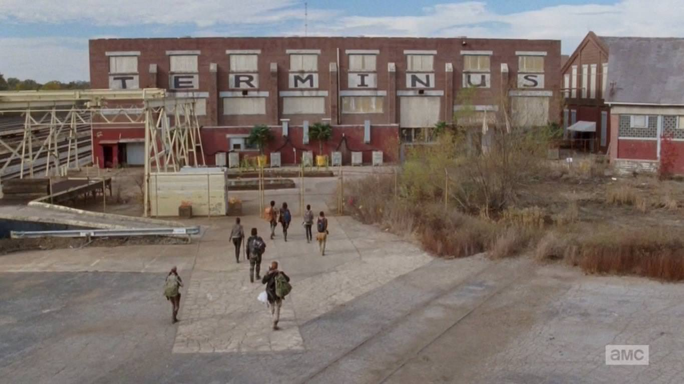 The Walking Dead 4x15 Us - Los grupos de Maggie y Glenn llegan a Terminus