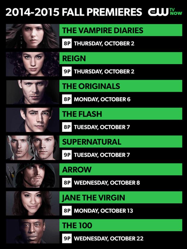 Calendario estreno de series 2014-15 en The CW
