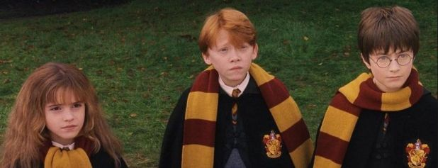 El trío protagonista de Harry Potter and the Philosophers Stone